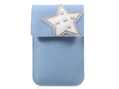 Универсална Кожена Чанта с презрамка за рамо 172  x 105 mm - Baby Blue