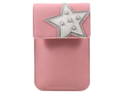 Универсална Кожена Чанта с презрамка за рамо 172  x 105 mm Розова