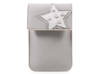 Универсална Кожена Чанта с презрамка за рамо 172  x 105 mm Сива