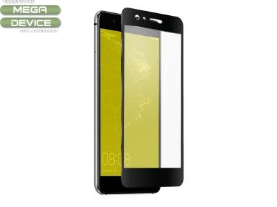 Стъклен протектор със силиконов кант за  Huawei P10 Lite Full,Черен