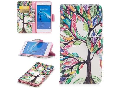 Калъф тефтер за Huawei Nova Smart/Honor 6c/Enjoy 6s Дърво с цветни листа