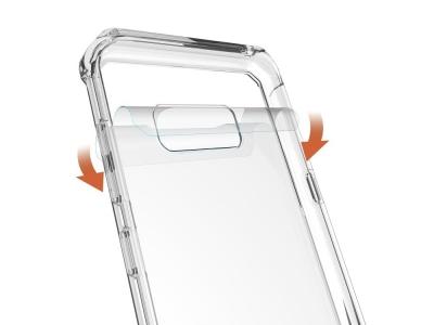 Пластмасов гръб с противоударна силиконова лайсна за Samsung Galaxy S8 Plus 2017 G955 Прозрачен