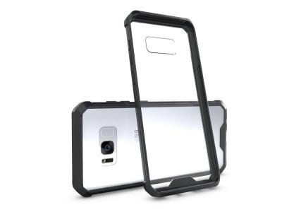 Пластмасов гръб с противоударна силиконова лайсна за Samsung Galaxy S8 Plus 2017 G955 Черен