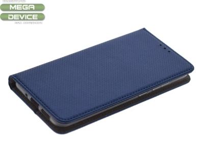 Тефтер странично отваряне за Huawei P10 Lite Син
