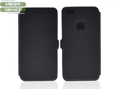 Тефтер странично отваряне за Huawei P10 Lite Черен