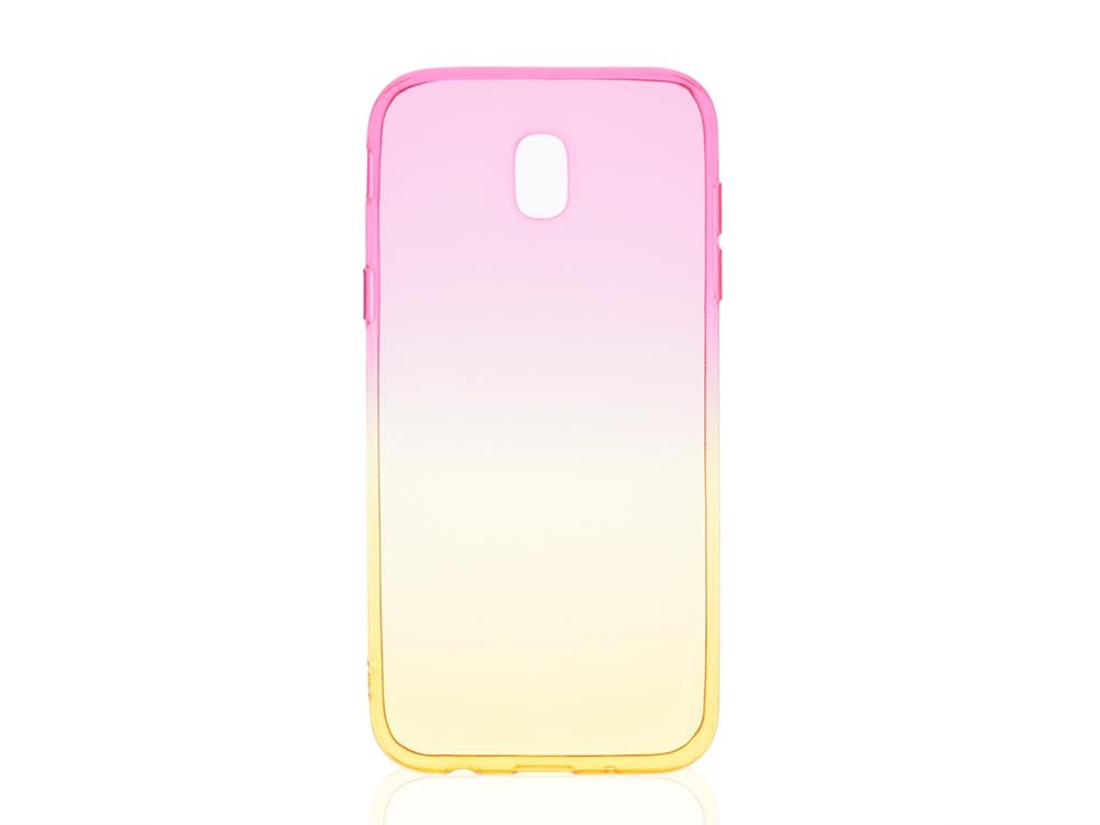 Силиконов гръб OMBRE за Samsung Galaxy J5 2017 J530 Розов/Златист