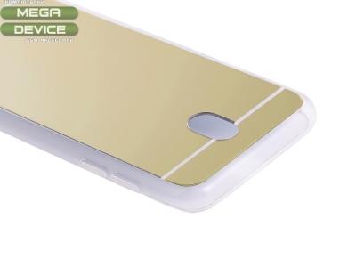 Огледален гръб със силиконова лайснаT1 Mirror за Samsung Galaxy  J7 2017 J730F Gold