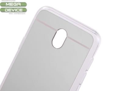 Огледален гръб с силиконова лайсна T1 Mirror за Samsung Galaxy  J7 2017 J730F, Сребрист