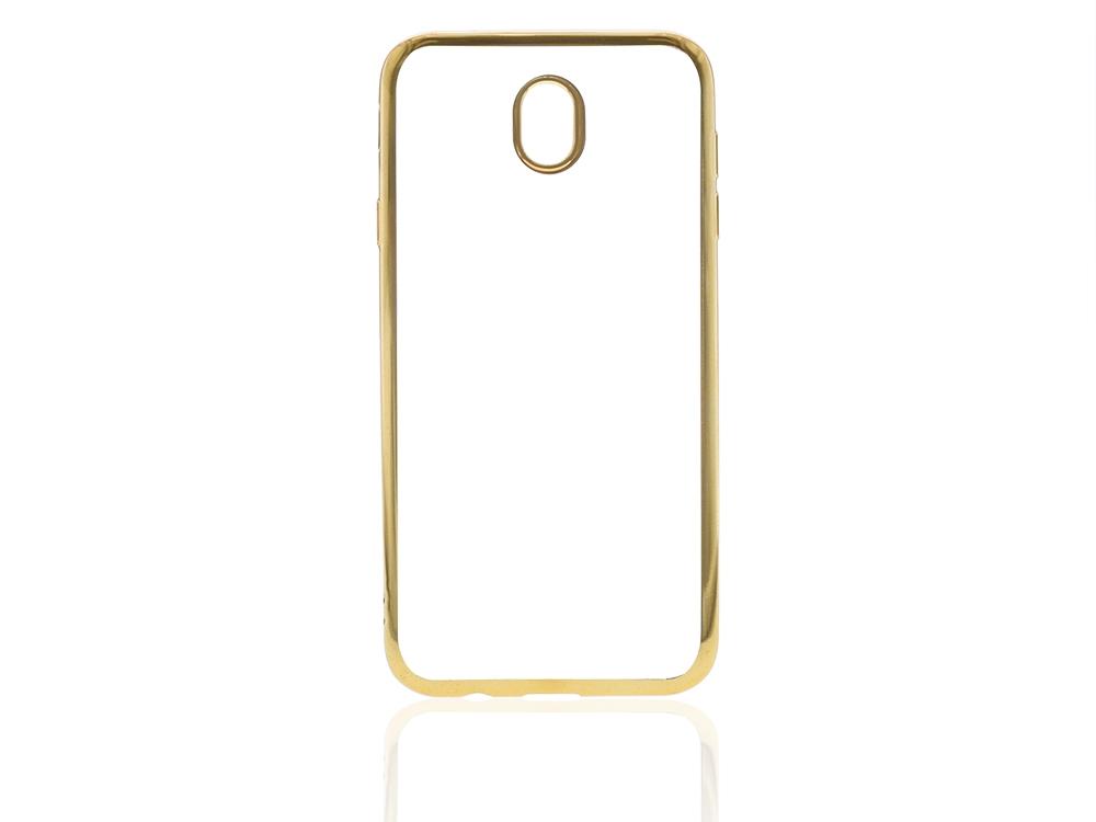 Силиконов калъф  с лайсна CLEAR за Samsung Galaxy J7 2017 J730F Златист