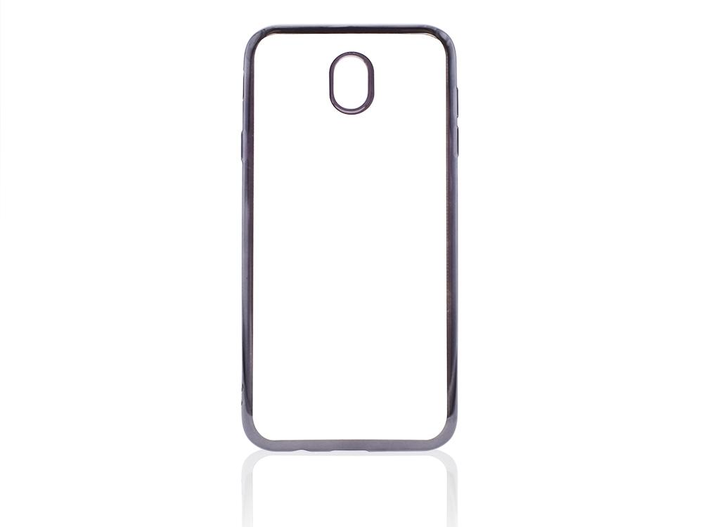 Силиконов калъф  с лайсна CLEAR за Samsung Galaxy J7 2017 J730F Черен