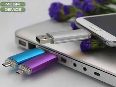 FLASH 16GB USB / Micro USB  - For Android,Черен, Розов, Лилав, Син, Зелен