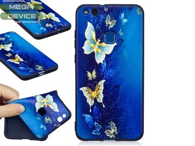 Силиконов Гръб за Huawei P10 Lite - Butterflies