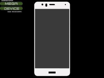 Стъклен протектор Huawei P10 Lite Full , Бял