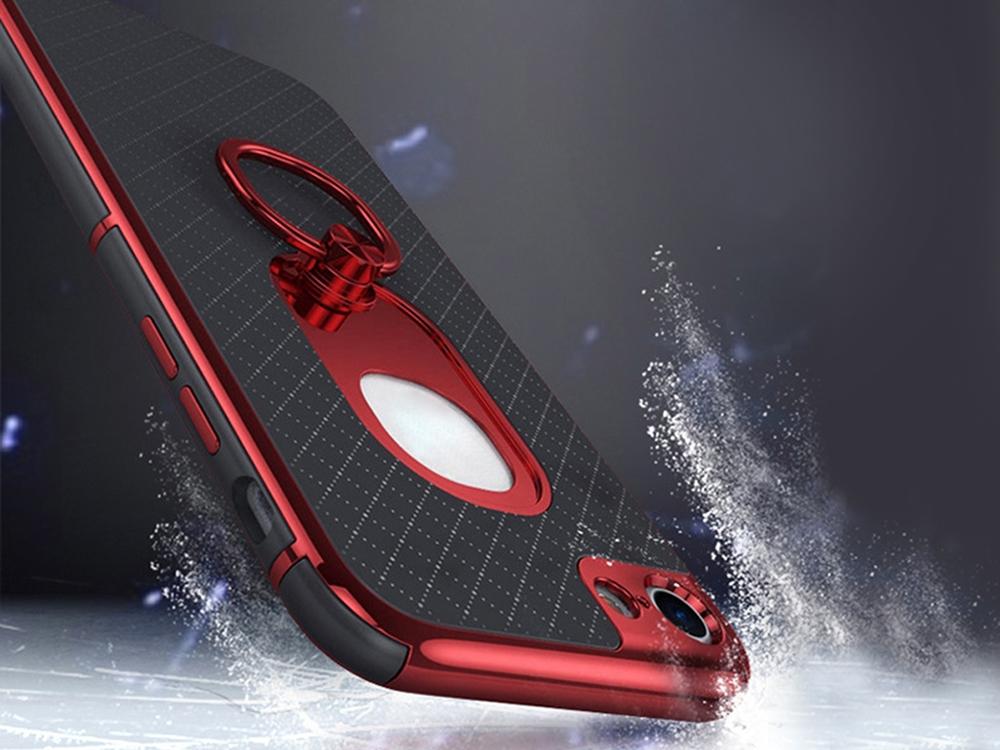 Калъф гръб iPaky 2 in 1 за iPhone 7 / 8, Червен