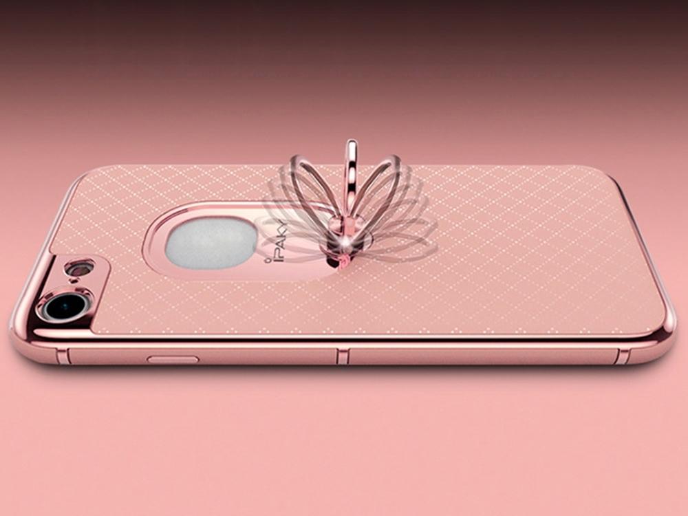 Калъф гръб iPaky 2 in 1 за iPhone 7 , Розов/ Златист