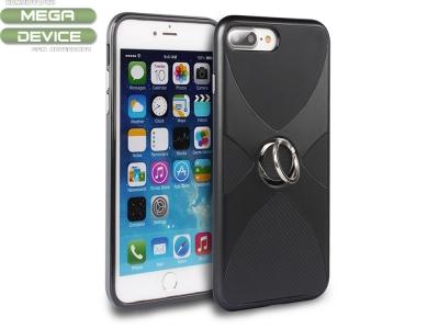 Силиоконов гръб 3 in 1 с пръстен за  iPhone 7 Plus/ 8 Plus ,Черен