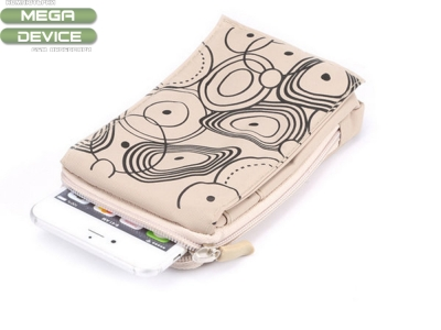 Универсална чанта 5.5 Inch за Samsung Note4/ Note3/Note2/iphone6 /5S /4S(The Spiral Pattern on White Background)