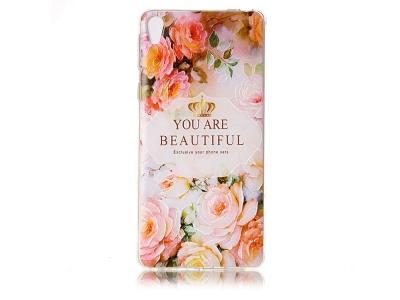 Калъф гръб силикон за Sony Xperia L1 - Pink Flowers