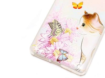 Калъф гръб силикон за Sony Xperia L1 - Cat and Butterflies