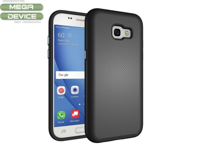 Калъф Гръб - подсилен 2 в 1 за Samsung Galaxy A5 (2017), Черен
