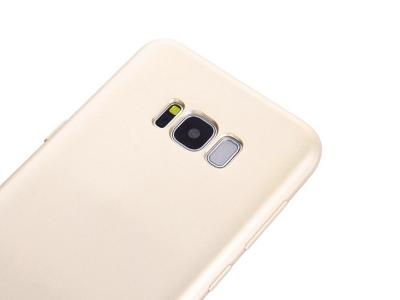 360 градусов силиконов гръб + PVC лайсна за Samsung Galaxy S8 2017 G950, Златист