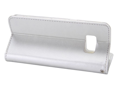 Калъф Тефтер Roar с силиконово гнездо за Samsung Galaxy S8 Plus ,Бял