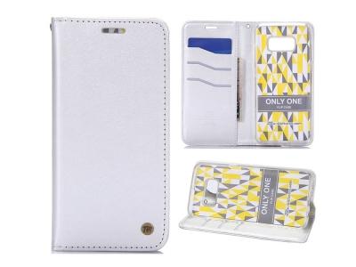 Калъф Тефтер Roar Sheepskin Leather + TPU Back Cover за Samsung Galaxy S8 Plus - White