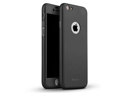 IPAKY 360 pvc  + стъклен протектор Iphone 6 Plus ,Черен