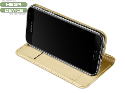 Калъф Тефтер ELEGANCE - Samsung Galaxy J5 2017 J530 ,Златист