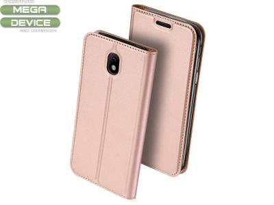 Калъф Тефтер ELEGANCE за Samsung Galaxy J5 2017 J530, Розов /Златист