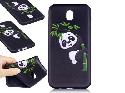 Силиконов гръб за  Samsung Galaxy J7 2017  J730 - Panda on Bamboo