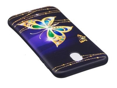 Силиконов гръб за  Samsung Galaxy J7 2017  J730 - Diamond Butterfly