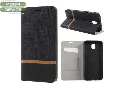 Калъф Тефтер (Built-in Steel Sheet) за Samsung Galaxy J7 (2017) J730,Черен