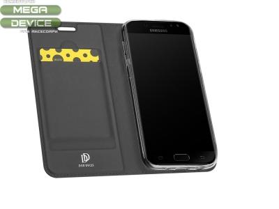 Калъф Тефтер ELEGANCE - Samsung Galaxy J7 2017 J730 ,Черен