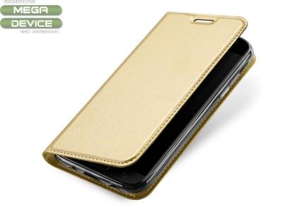 Калъф Тефтер ELEGANCE за Samsung Galaxy J7 2017 J730, Златист