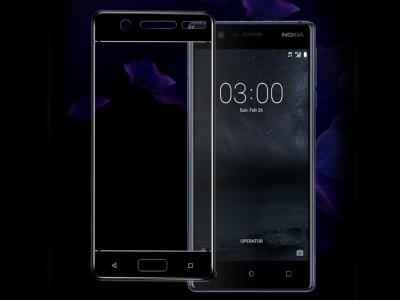 Стъклен Протектор IMAK HD Full за Nokia 5 2017, Черен