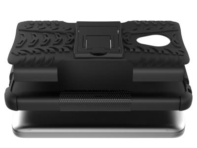 Калъф Гръб Kickstand PC + TPU Hybrid за Alcatel U5 2017 (4G Version), Черен