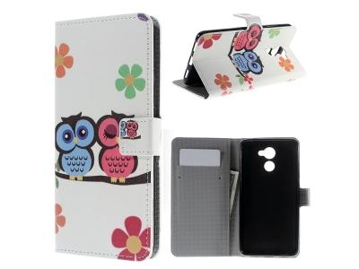 Калъф тефтер за Huawei Y7 (2017) - Owl Couple