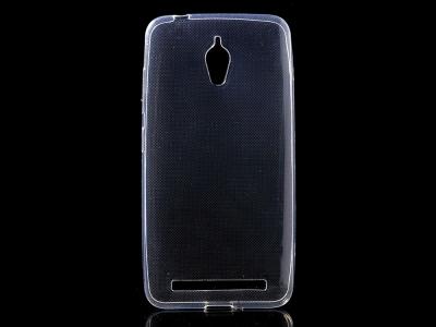 Силикон Ултра Слим - Zenfone Go 5.0 LTE (T500) Transparent relef