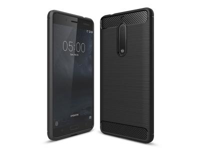 Силиконов Калъф Carbon Fibre Brushed - Nokia 5 - Black