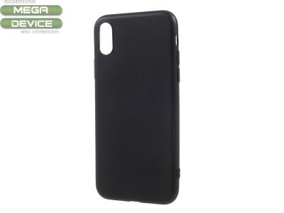 Силиконов Гръб Matte за  iPhone X, Черен