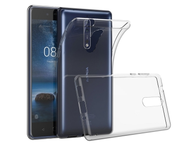 Силиконов гръб за Nokia 8 2017, Прозрачен