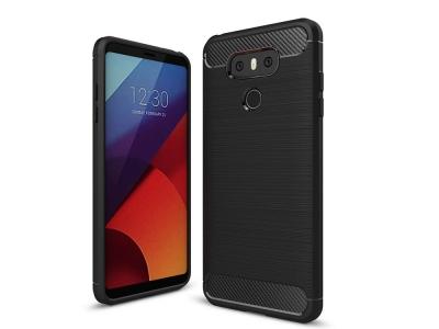 Силиконов Калъф Carbon Fibre Brushed за LG G6, Черен