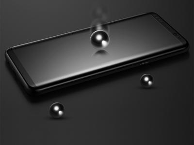Стъклен 3D протектор BASEUS Curved за Samsung Galaxy S8 Plus 2017 (G955F), Черен