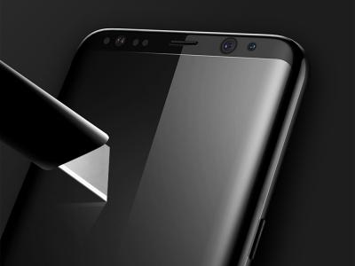Стъклен 3D протектор BASEUS за Samsung Galaxy S8 Plus (G955F), Черен