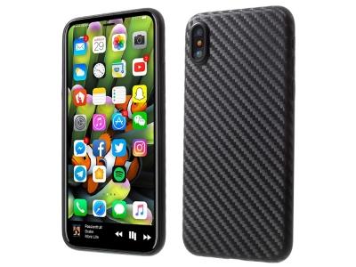 Калъф гръб Ultrathin Carbon за Phone X 5.8 inch , Черен