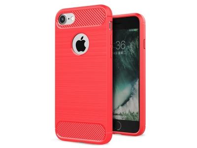 Силиконов Калъф Carbon за  iPhone 8 / 7 4.7 inch , Червен
