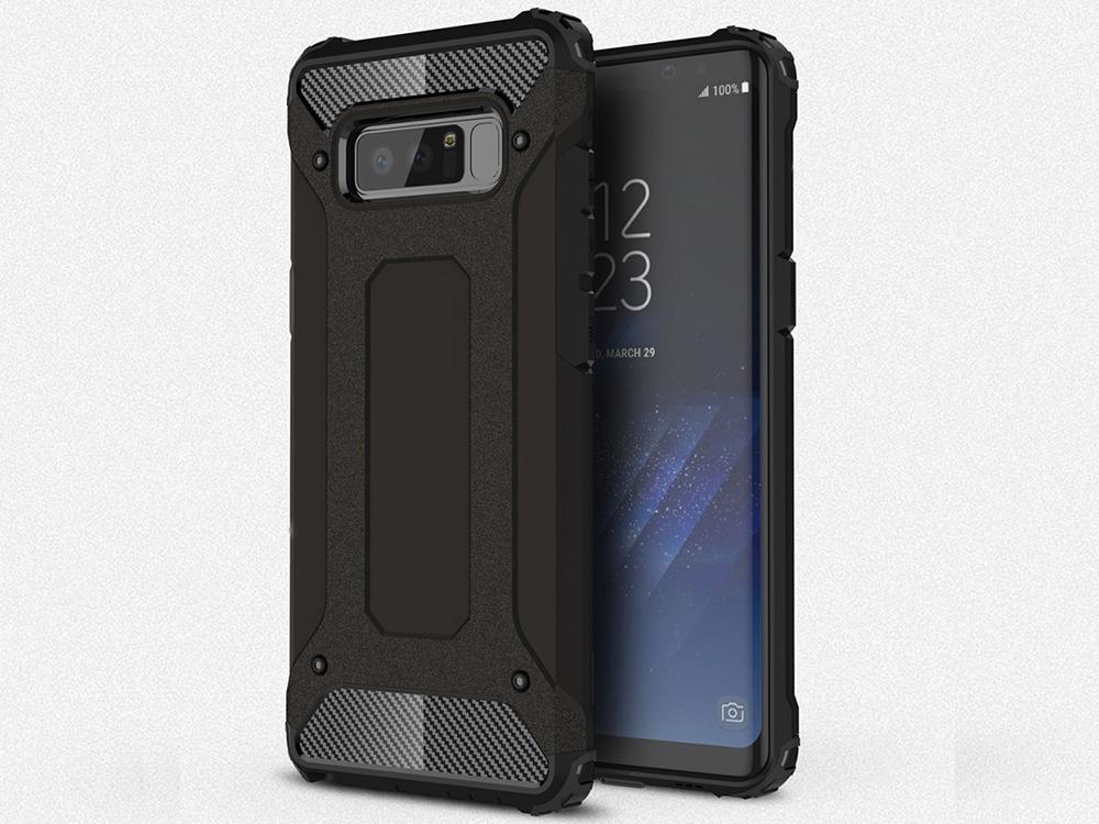 Хибриден силиконов гръб за Samsung Galaxy Note 8 2017, Черен