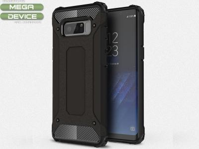 Хибриден силиконов гръб за Samsung Galaxy Note 8, Черен