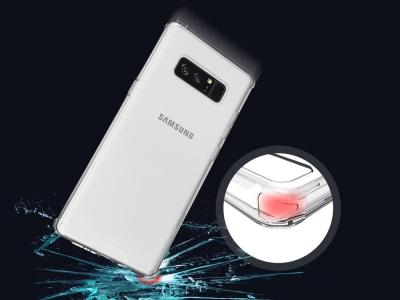 Пластмасов гръб със силиконова лайсна за Samsung Galaxy Note 8 2017 N950 , Прозрачен